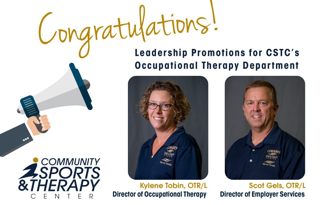 Leadership Promotions for CSTC's Occupational Therapy Department