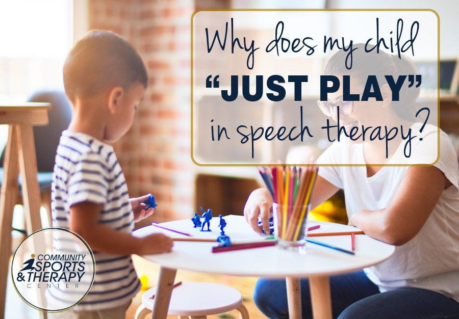 """Why does my child """"just play"""" in speech therapy?"""
